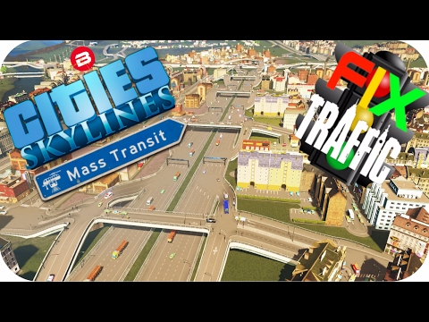 Cities Skylines Gameplay: TRAFFIC BE GONE!!! Cities: Skylines MASS TRANSIT FIX TRAFFIC Scenario #3
