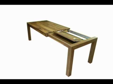 esstisch nussbaum cube ausziehbar kopfkulissenauszug youtube. Black Bedroom Furniture Sets. Home Design Ideas