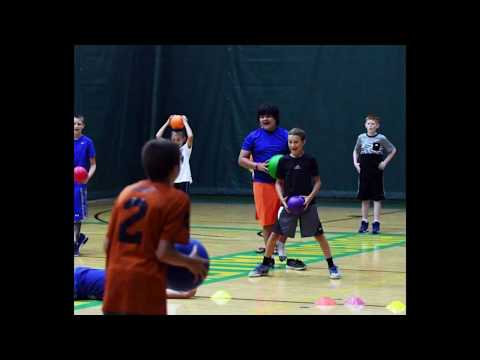 3 year old kid beats entire dodgeball team in 15 seconds