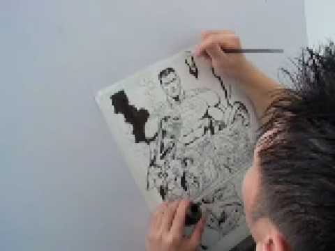 Tom Nguyen visits Doug Mahnke/Pat Gleason studio Part 1 (of 2)