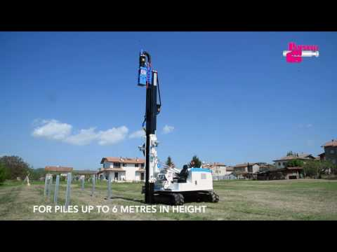 PAUSELLI Pile driver machine mod 1200 with GPS system for solar/photovoltaic panels installation