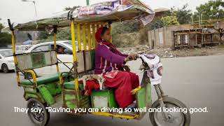 Meet one of Ghaziabad's only female rickshaw drivers
