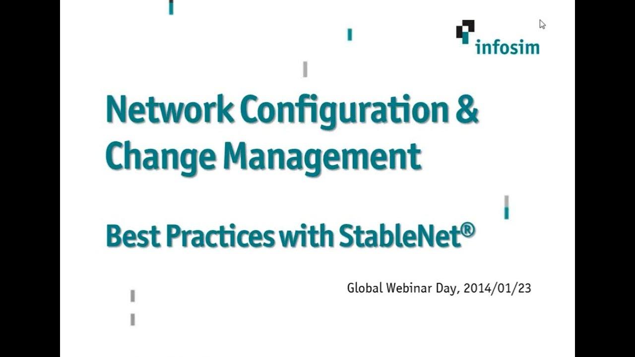 GWD 2014-01-23: NCCM: Best Practices with Infosim® StableNet®