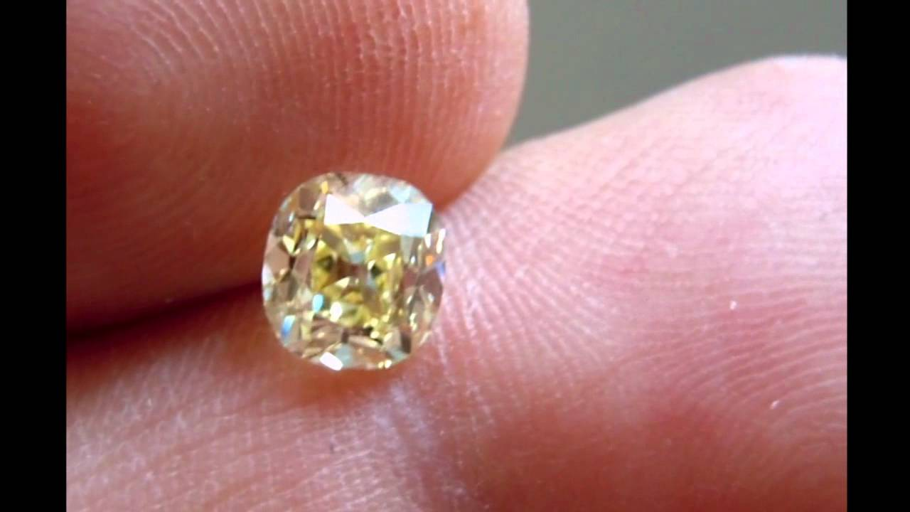 1.33ct Fancy Yellow SI1 Old Mine Brilliant Branded Diamonds by ...