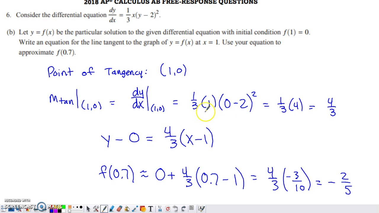 ap calculus ab free response questions and answers