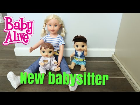 BABY ALIVE Drake And Abby Get A New babysitter