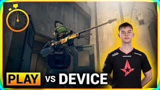 How it feels to play CS:GO against Device?