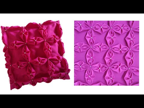Capitone Cojines.How To Make Beaded Smocking Cushion Cover Rose Satin Fabric