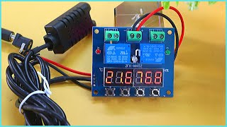 Digital Temperature and Humidity Controller Circuit ZFX M452 Review in English