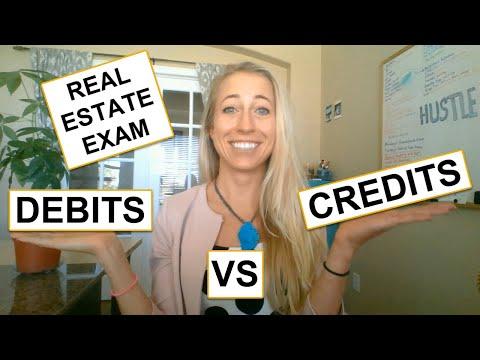 Real Estate DEBITS vs CREDITS