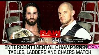 Seth Rollins vs Baron Corbin - Intercontinental Champion Match - WWE RAW 10 December 2018 Highlights