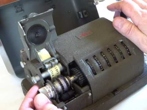 Hagelin CX-52 cipher machine with modifications