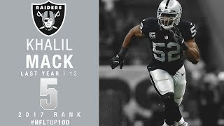 #5: Khalil Mack (lb, Raiders)   Top 100 Players Of 2017   Nfl
