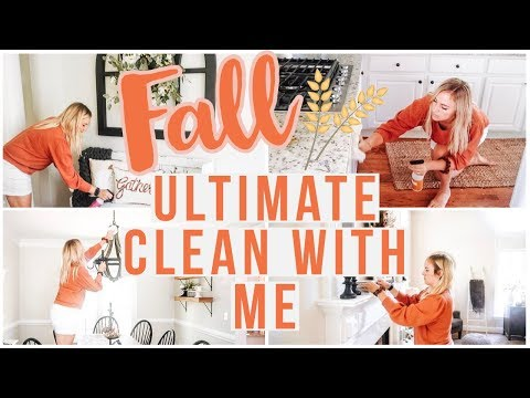 ULTIMATE FALL CLEAN WITH ME (2019) | EXTREME CLEANING MOTIVATION FOR BUSY MOMS