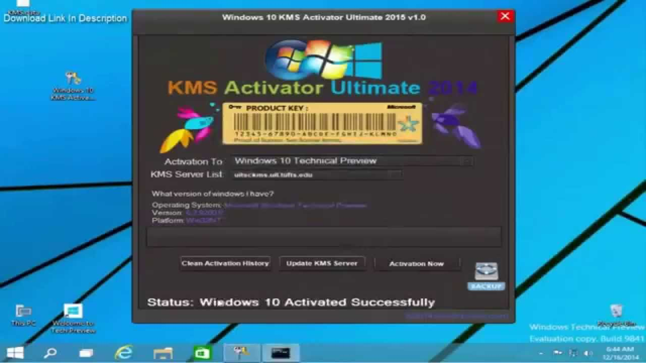 kms activator for windows 10 exe