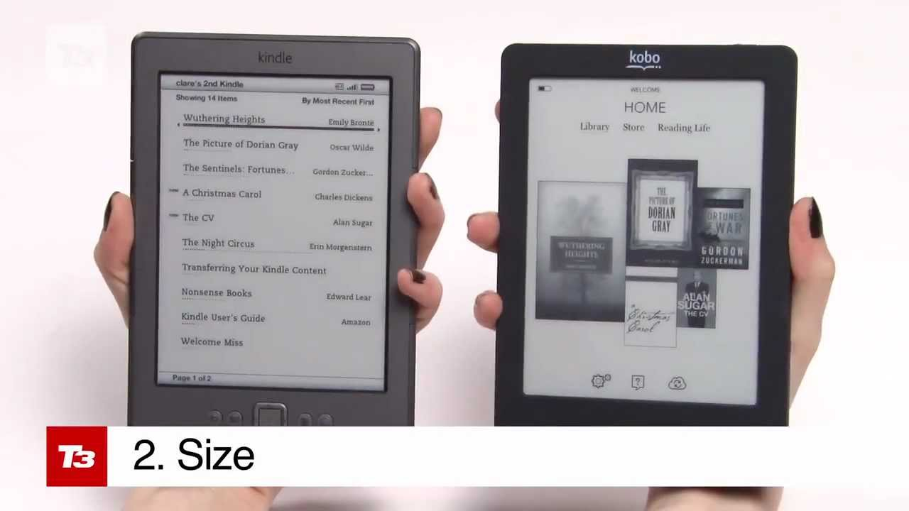 Kobo Vs Kindle Hands On Review Youtube