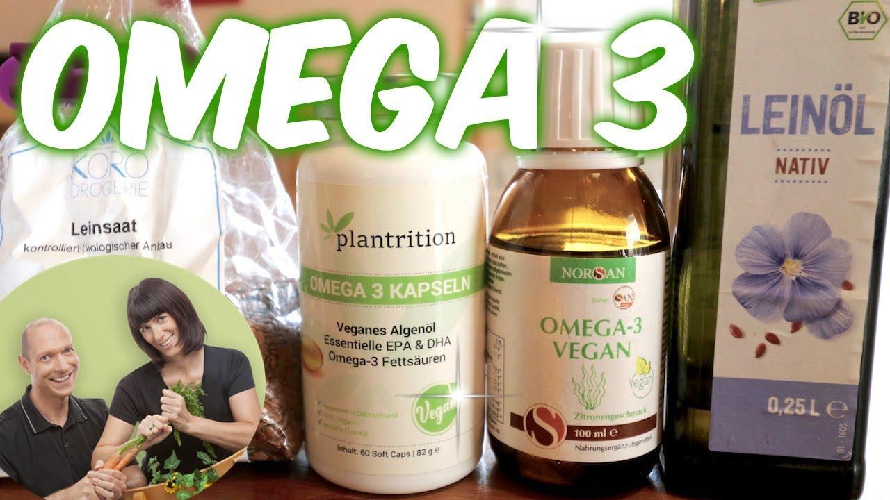 OMEGA 3. Das einzige gesunde Fett. VEGAN EPA & DHA