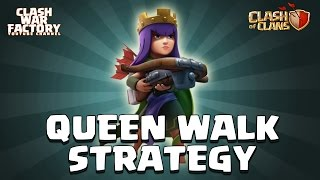 Clash of Clans - TH10, TH9 - Queen Walk Strategy for farming