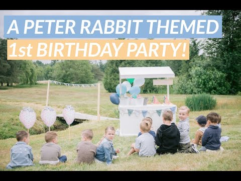 The Cutest Peter Rabbit Themed Birthday Party!