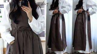 sub) DIY / Apron Dress / 2가지로 …