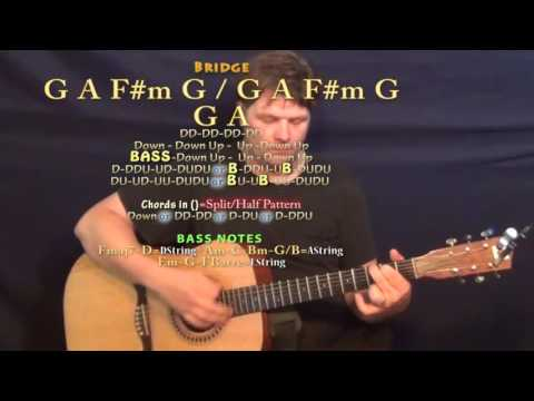 Forever and Always (Parachute) Guitar Lesson Chord Chart in D Major