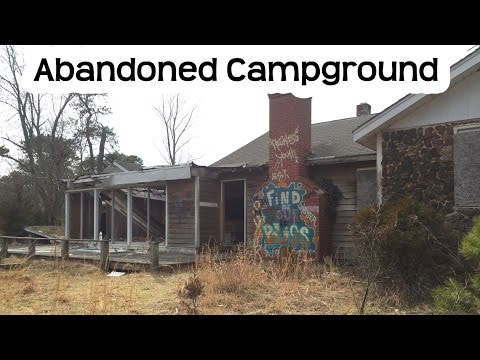 Abandoned Summer Camp Campground At The Jersey Shore