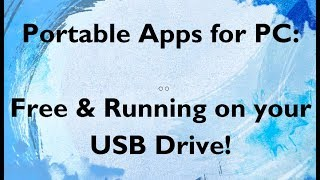 PortableApps FREE Software! Great Productivity Tools!