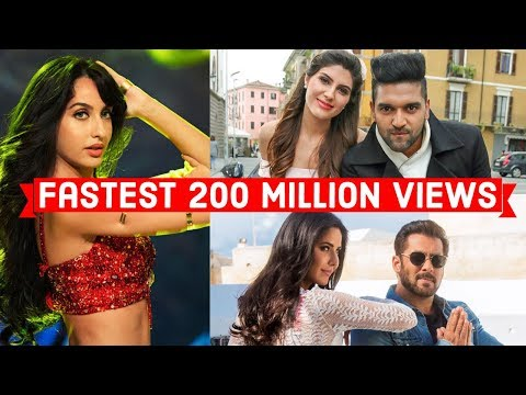 Top 10 Fastest Indian/Bollywood Songs to Reach 200 Million Views on Youtube