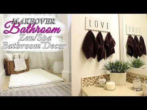 SPA Bathroom Decor IDEAS- ZEN BATHROOM Makeover