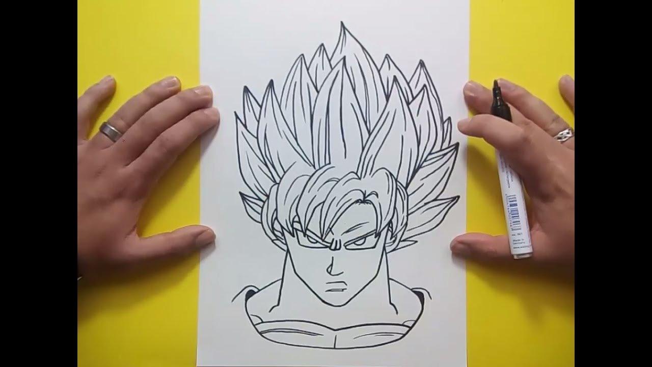 Como dibujar a Goku paso a paso 3 - Dragon ball | How to draw goku 3 ...