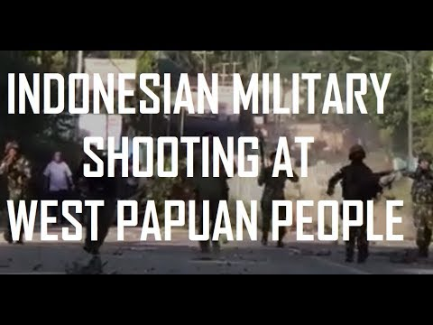Indonesian military shooting at West Papuan people