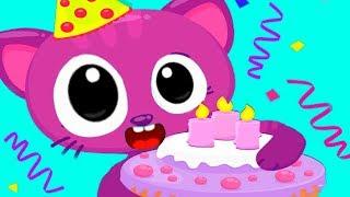 День рождение котят | Готовка челлендж торта | Игровой мультике для детей