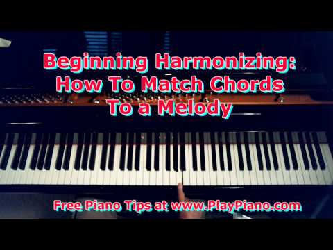 How To Harmonize a Melody With Chords In Your Left Hand - For Beginners Only
