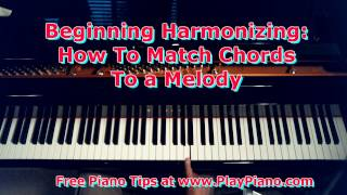 how to harmonize a melody with chords in your left hand for beginners only