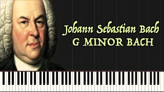 G Minor Bach (Piano Tutorial Synthesia)