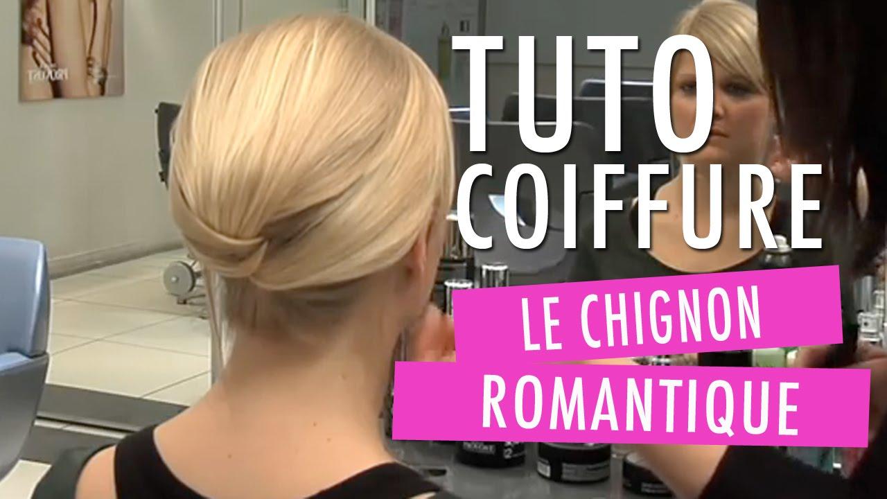 Chignon romantique - Tuto coiffure - YouTube