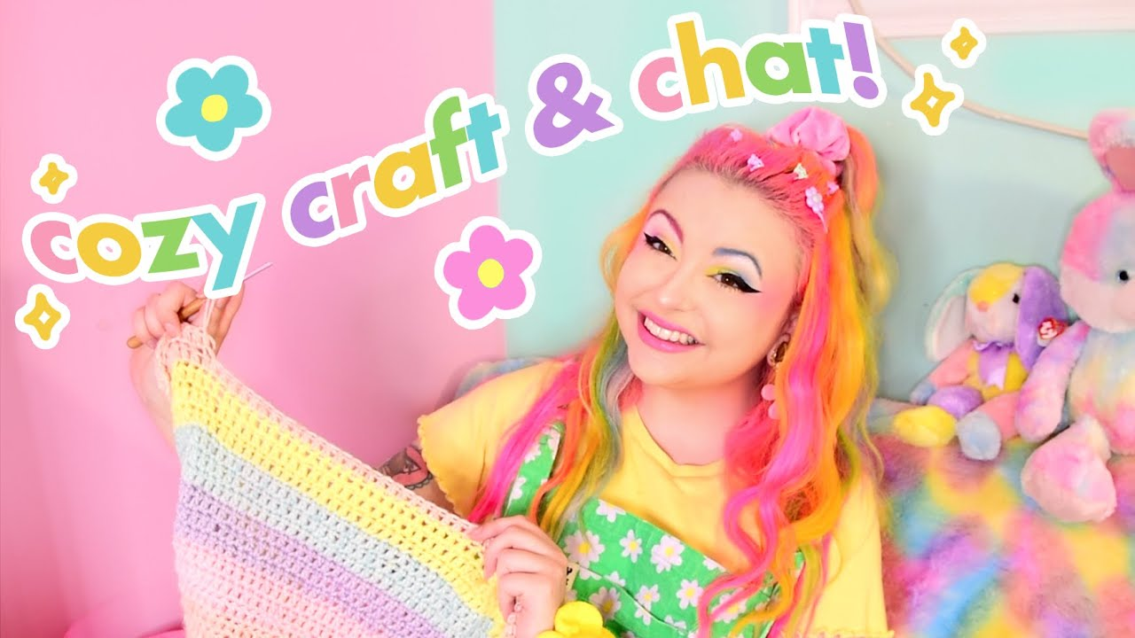 Crochet With Me!! Let's Gossip About Anime 😌💕
