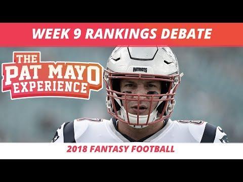 2018 Fantasy Football — Week 9 Rankings, Starts, Sits and NFL Trade Spin