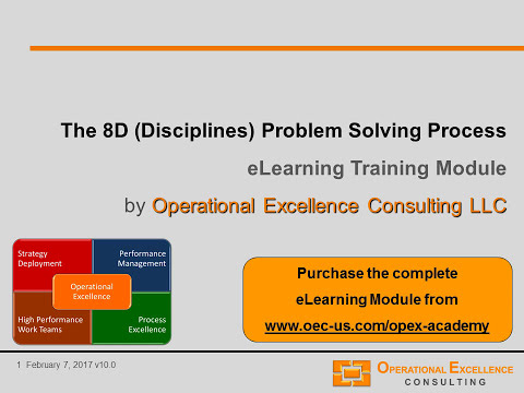 Operational Excellence 101 - 5. The 8D Problem Solving Proce