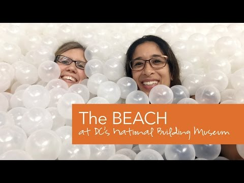 The BEACH: A Giant Ball Pit at DC's National Building Museum