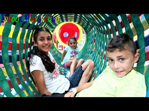 Indoor Playground Family Fun Play Area for kids playing! Entertainment for children Family Vlog
