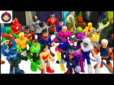 Imaginext Hall of Doom Unboxing - Justice League Battles Legion of Doom With Batman Superman Flash