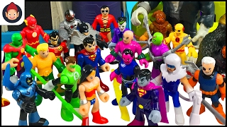 Imaginext Hall of Doom Unboxing - Justice League Battles Legion of Doom With Batman Superman Flash