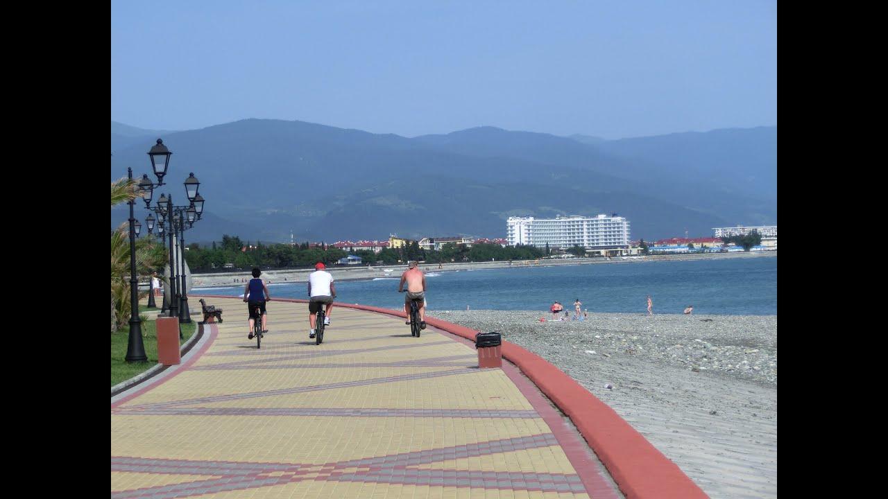 Адлер пляжа и города летом 73