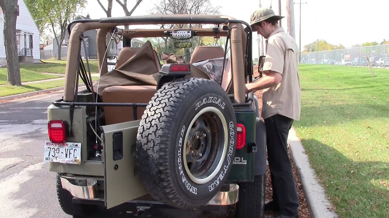 Removing The Soft Top From A 95 Jeep YJ
