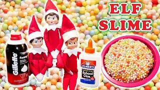 Elf on the Shelf Elves Shows How to Make SLIME with The Patsy Family Day 18 Christmas 2017
