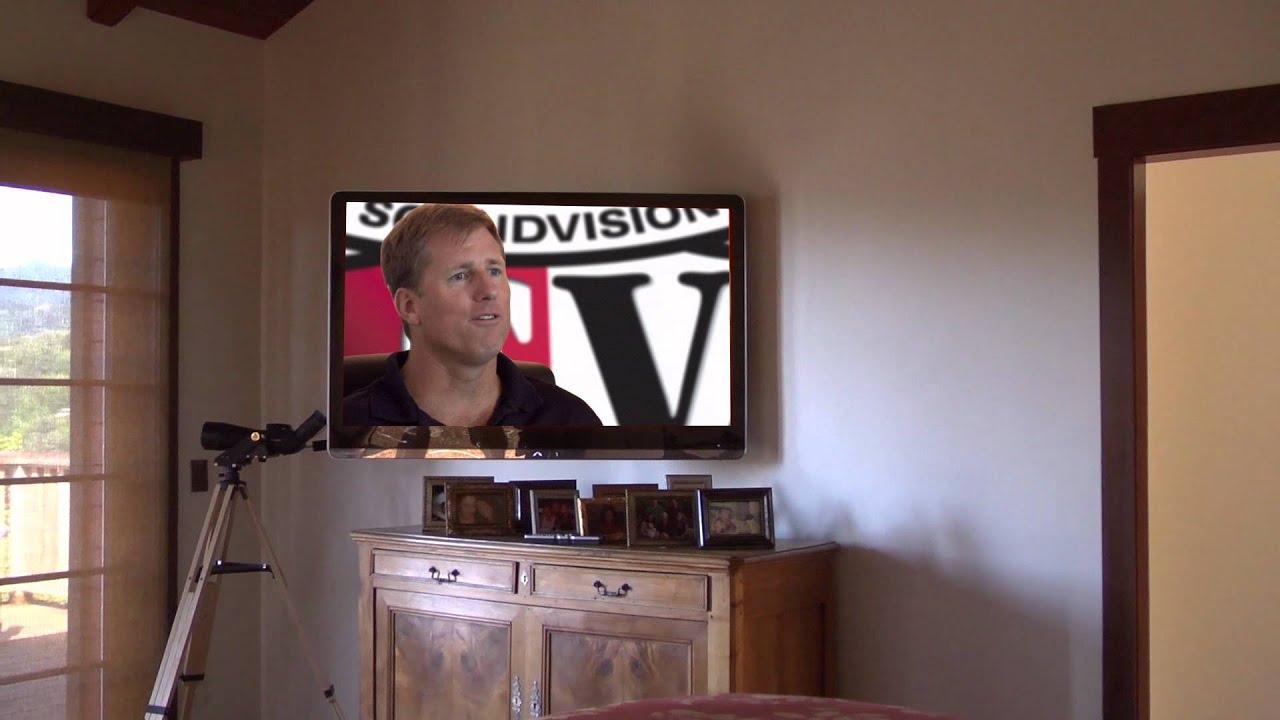 Wall Mounted Bedroom TV - YouTube
