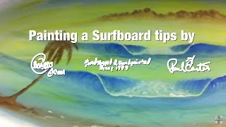 Learn How to Paint Surf Art surfboard Paul Carter part1