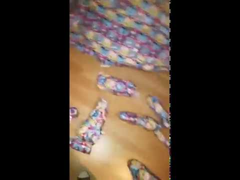 Entire room wrapped in Christmas wrapping paper in Kilcock
