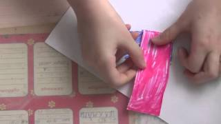 поделка из бумаги - разноцветный червяк